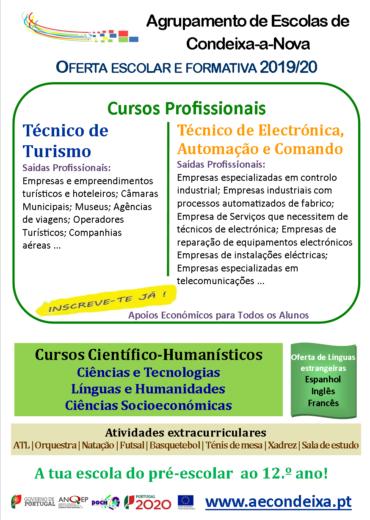 Flyer_Divulgação Oferta Formativa e Educativa 2019_20